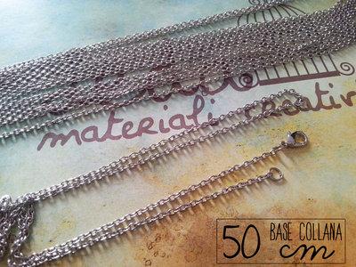 Base collana argento 50cm