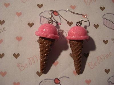 orecchini cono gelato