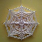 Mandala intessuto - bianco