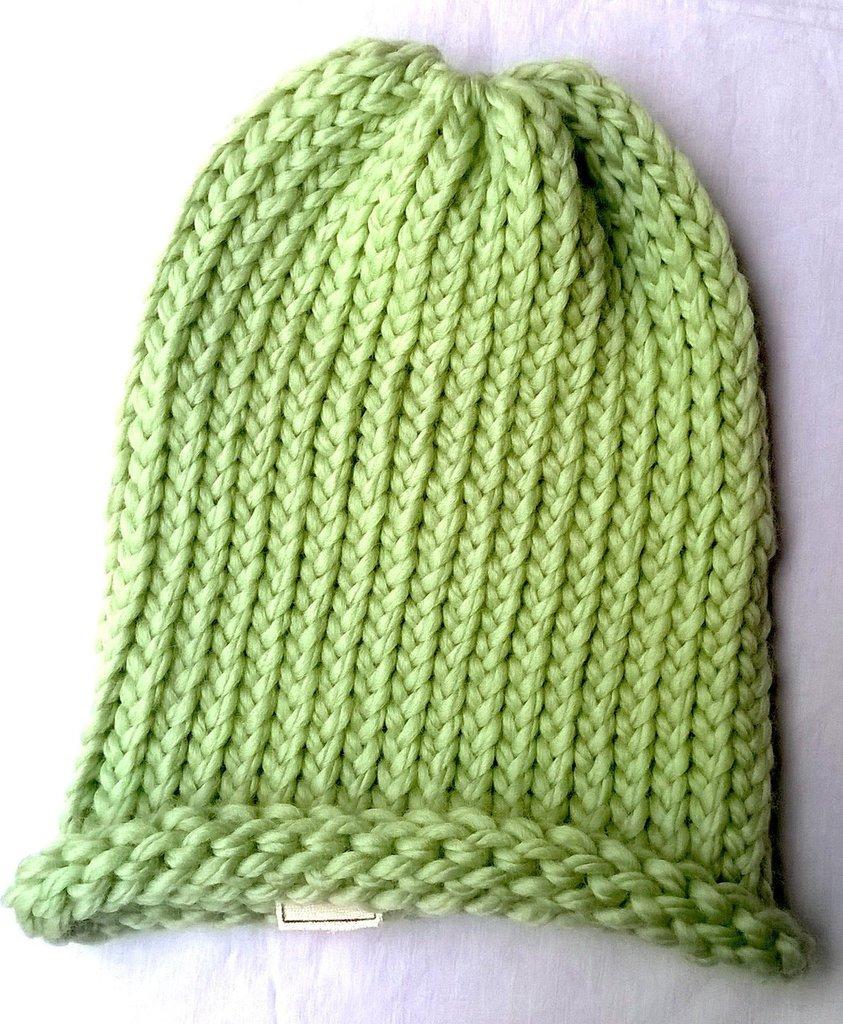 Cappello verde lungo