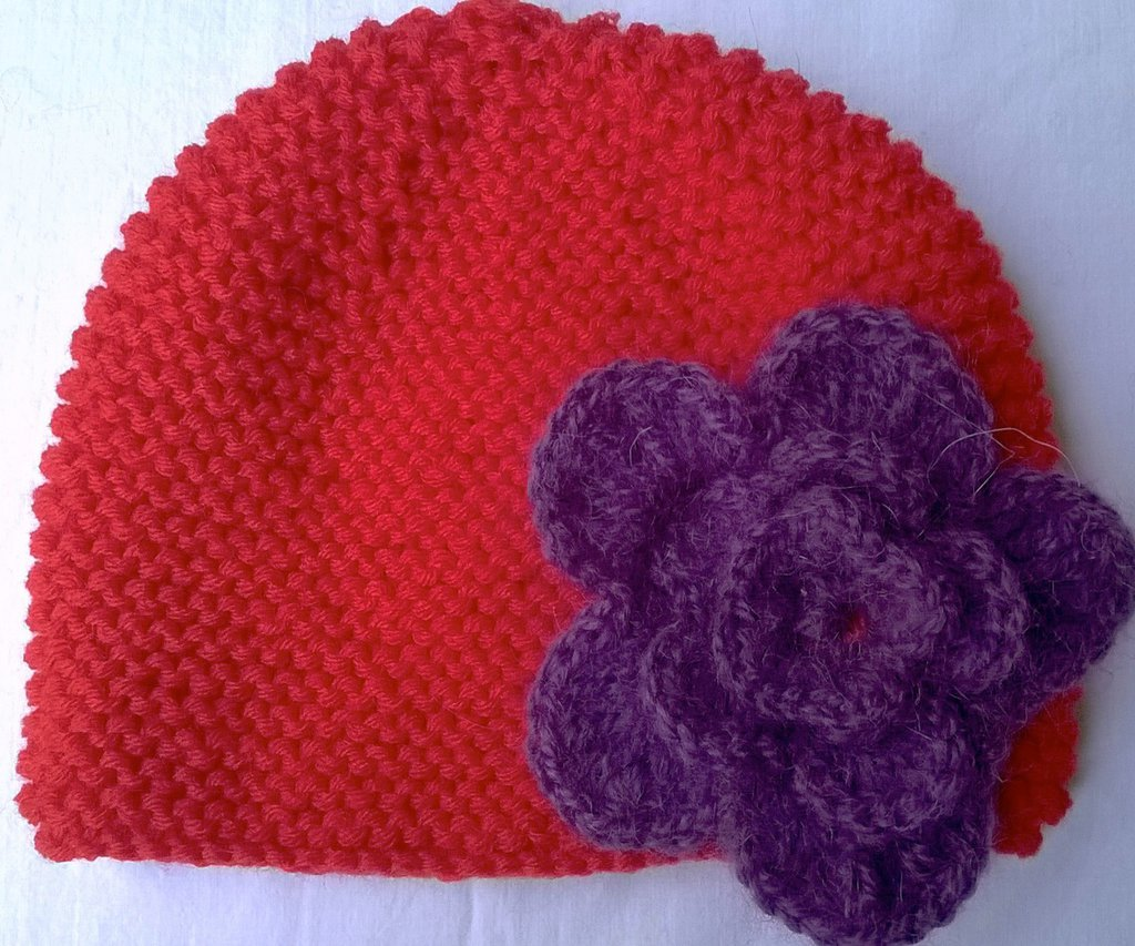 Cappello rosso bambina