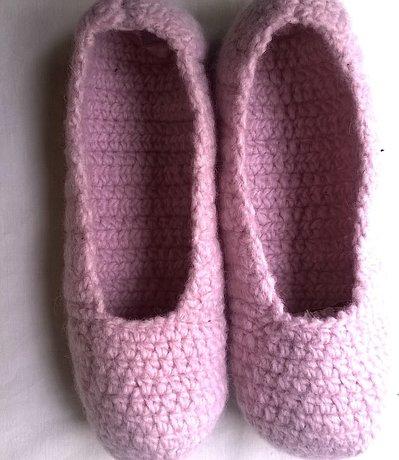 Pantofole in lana infeltrita