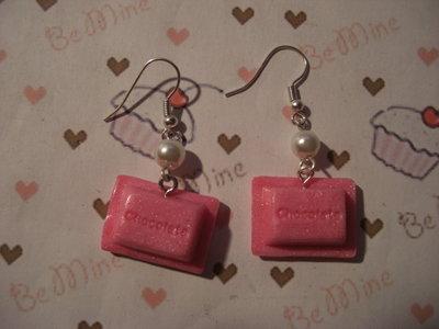 orecchini cioccolatino rosa