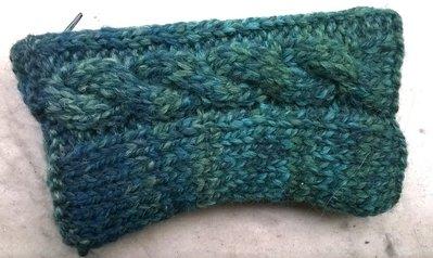 Bustina in lana color verde