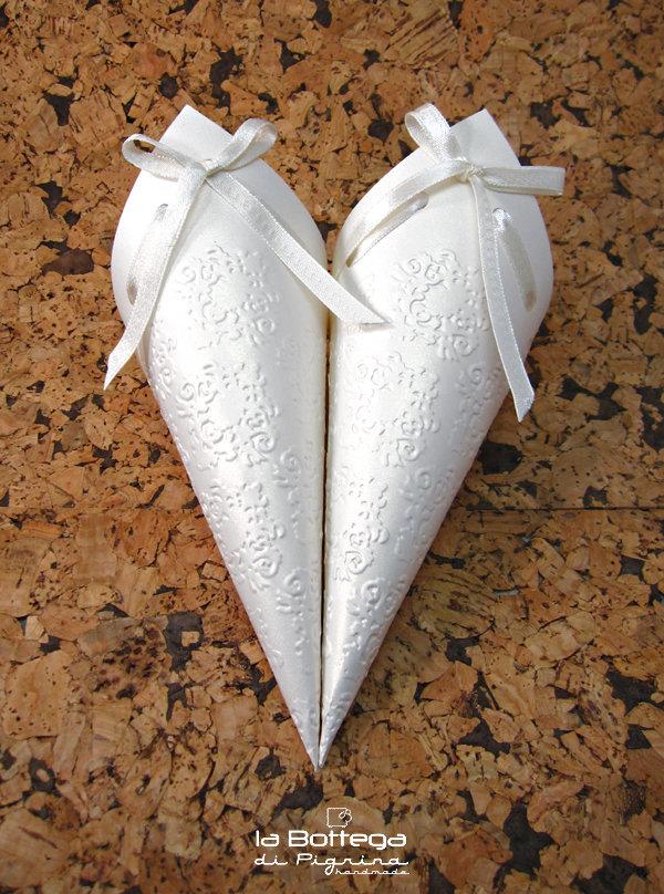 Coni porta riso eleganti 25 pz feste matrimonio - Porta riso matrimonio ...