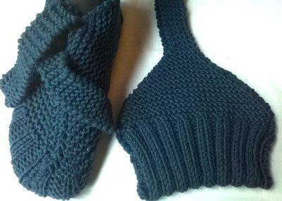 Babbucce triangolari in lana
