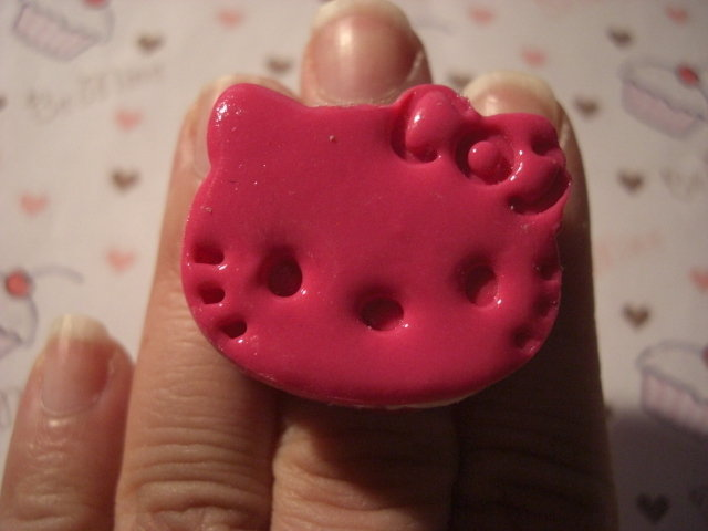 anello hello kitty fucsia - pink hello kitty ring