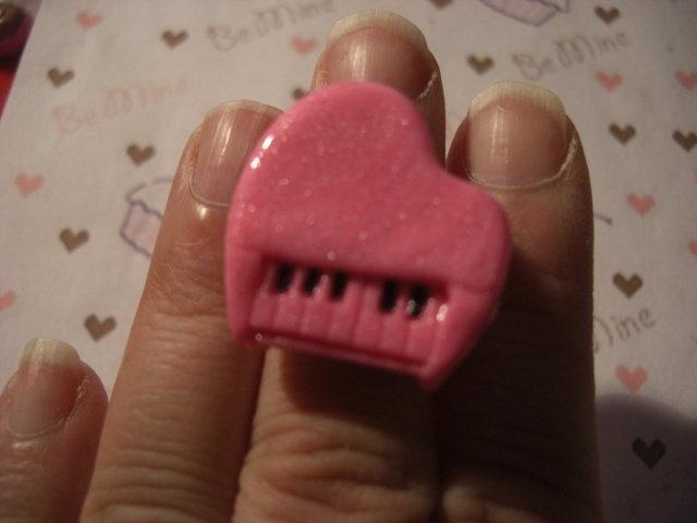 anello pianoforte rosa - pink piano ring