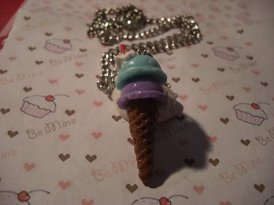 collana cono gelato -ice cream necklace