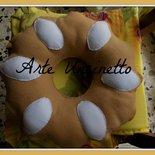 cuscino in morbido pile biscotto bucaneve