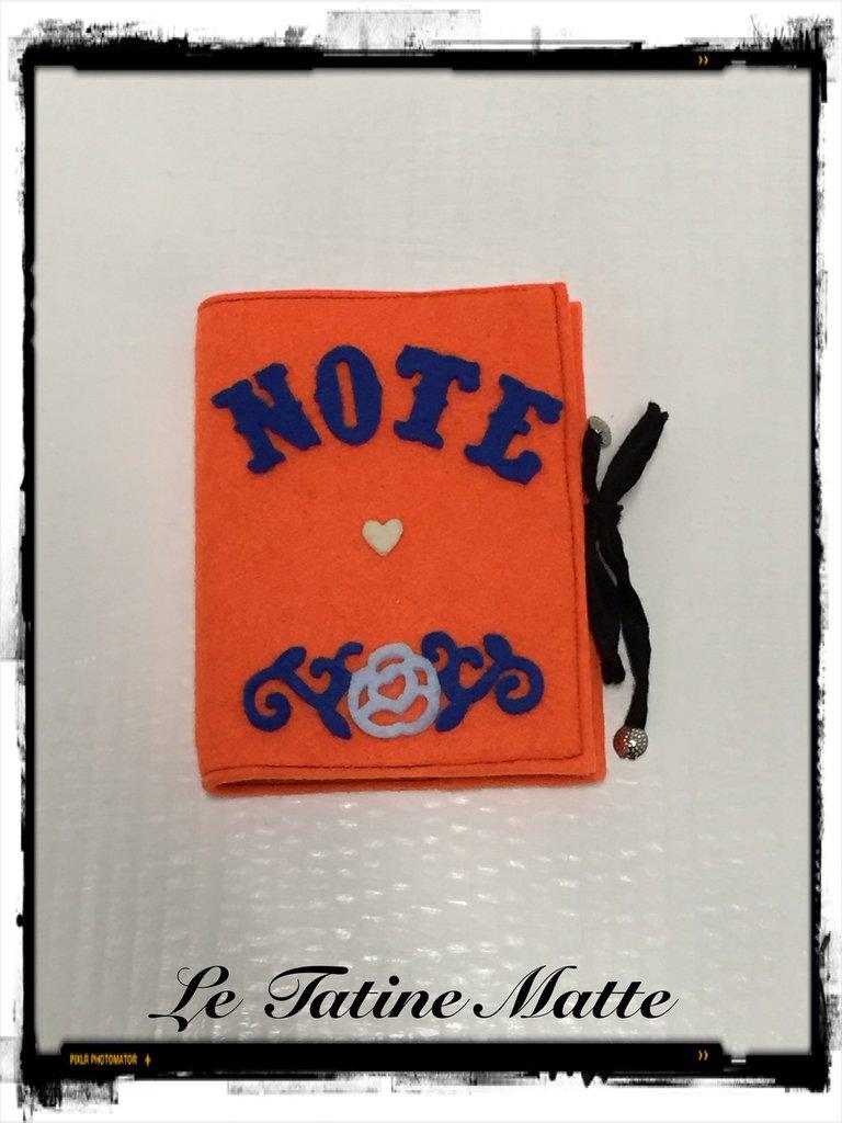 Block Notes con copertina in feltro