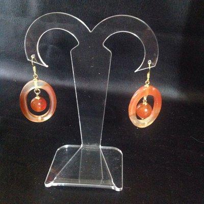Grandi orecchini in corniola
