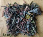 scaldacollo lana con ciuffi