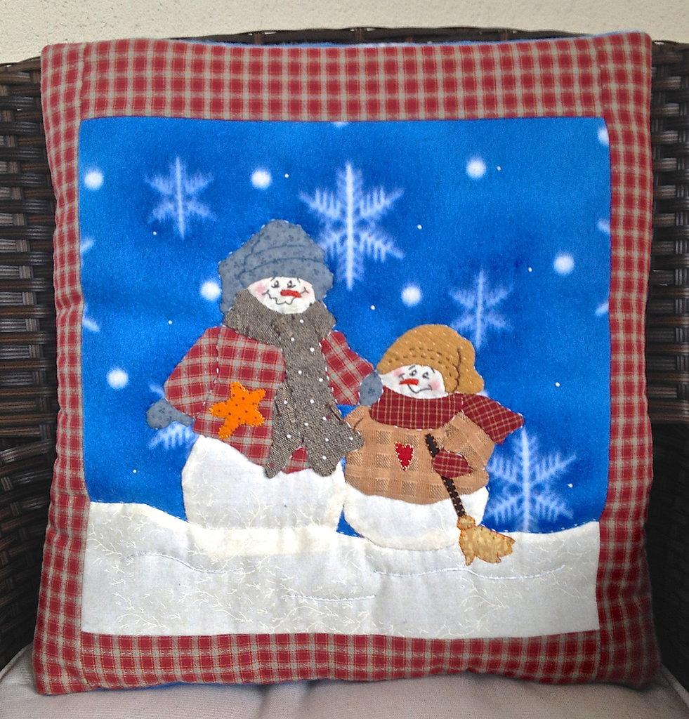 cuscino quillow fiocco di neve - un cuscino con dentro un plaid