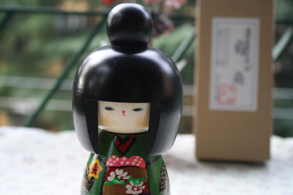 Bambola giapponese - Kokeshi, Ventaglio A800055