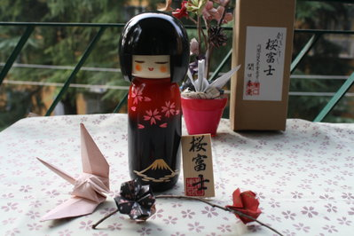 Bambola giapponese - Kokeshi Sakura Fuji,A420020