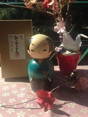 Bambola giapponese - Kokeshi Samurai-490173