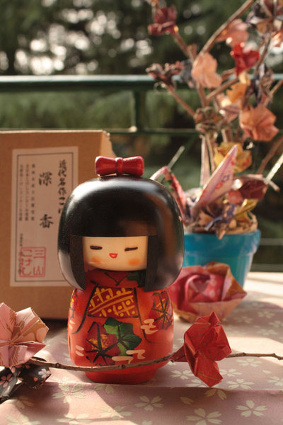 Bambola giapponese - Kokeshi, Shinka A800021