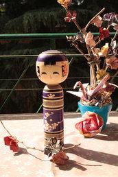 Bambola giapponese - Kokeshi Tradizionale PrugnoA490262