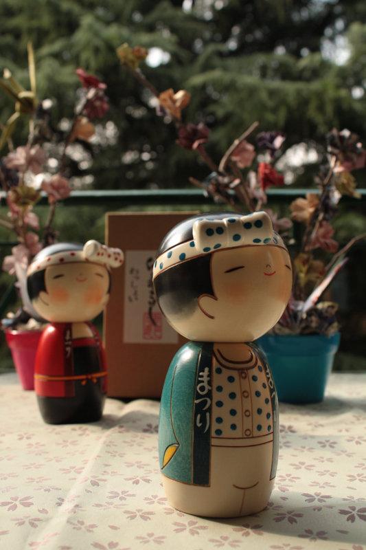 Bambola giapponese - Kokeshi, Ragazzo della Festa-A490198b
