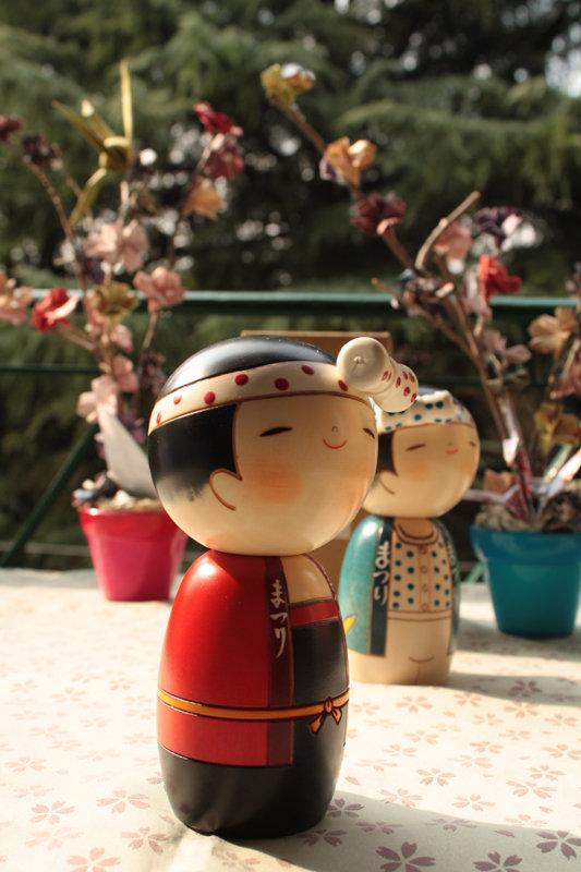 Bambola giapponese - Kokeshi , Ragazza della Festa-A490198g