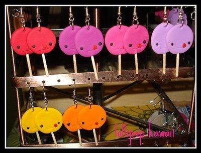 orecchini lecca lecca earrings lollipop fimo