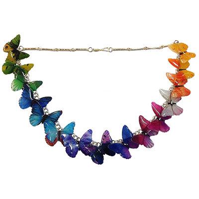 Collier Farfalle multicolori