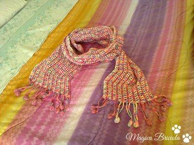 Sciarpa fluo rosa
