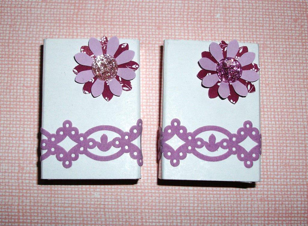 Scatoline decorate per regali - Packaging in Lilla - *GlitterFlower*