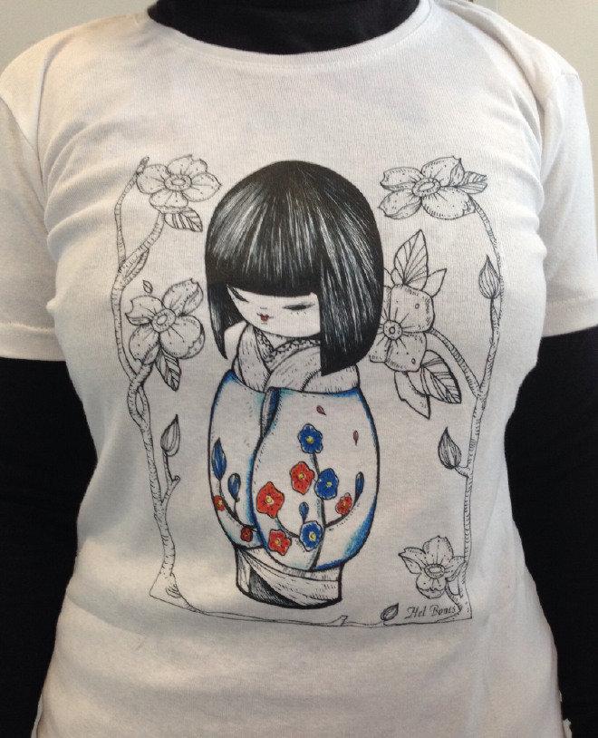 Japan Primavera, T-shirt Kokeshi