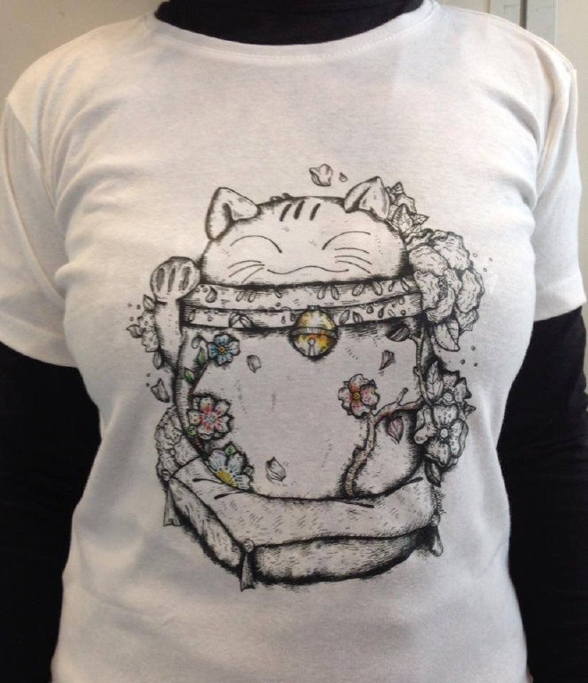 Japan Primavera, T-shirt Maneki Neko