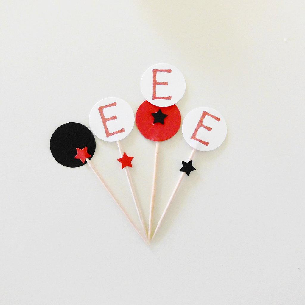 60 Cupcake toppers 'Pirati' personalizzati per la festa di compleanno a tema del vostro bambino!
