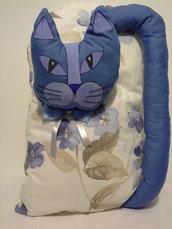 Cuscino Gatto musetto azzurro