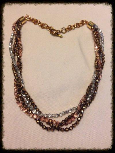 Collana torchon color bronzo oro
