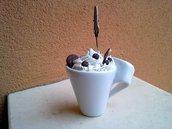Tazzina con panna e caffè