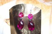 orecchini violetti-argento