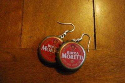 Orecchini tappi birra Moretti