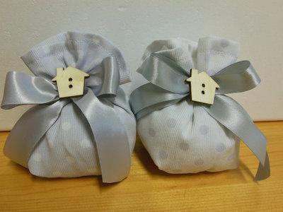 bellissimi sacchetti bomboniera in piquet a pois