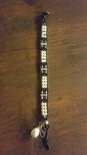 Bracciale perla e argento