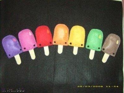 spille ghiacciolo pins ice cream of felt
