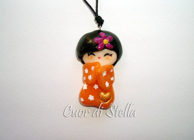Collana Kokeshi Arancio
