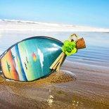 Bottiglie con paesaggi  - bomboniere - in sabbia Mod. Tarquinia Prima parte