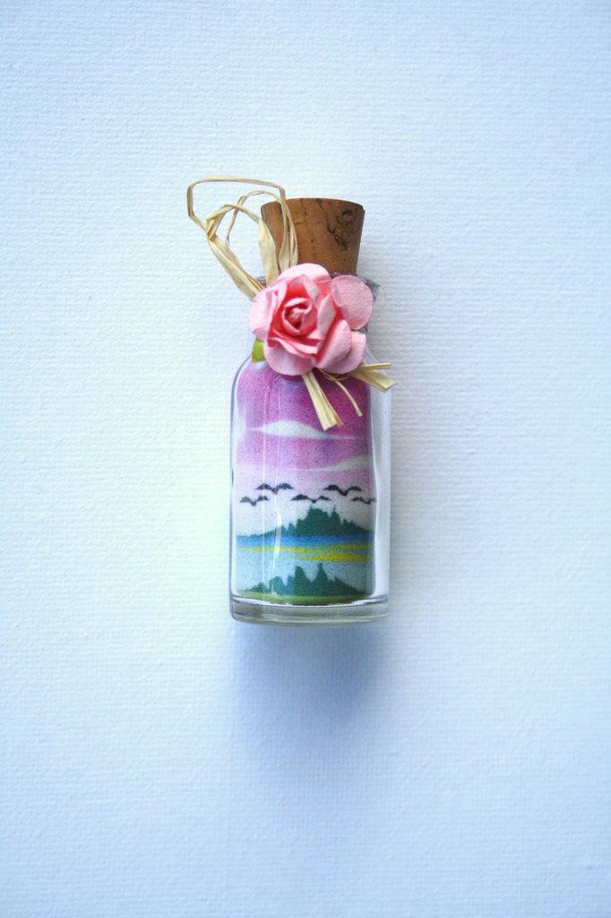 Bottiglie con paesaggi in sabbia Mod. Mignon prima parte
