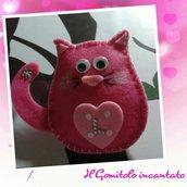 Gattino Pink in pannolenci