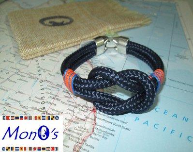 Bracciale uomo navy corda - blu