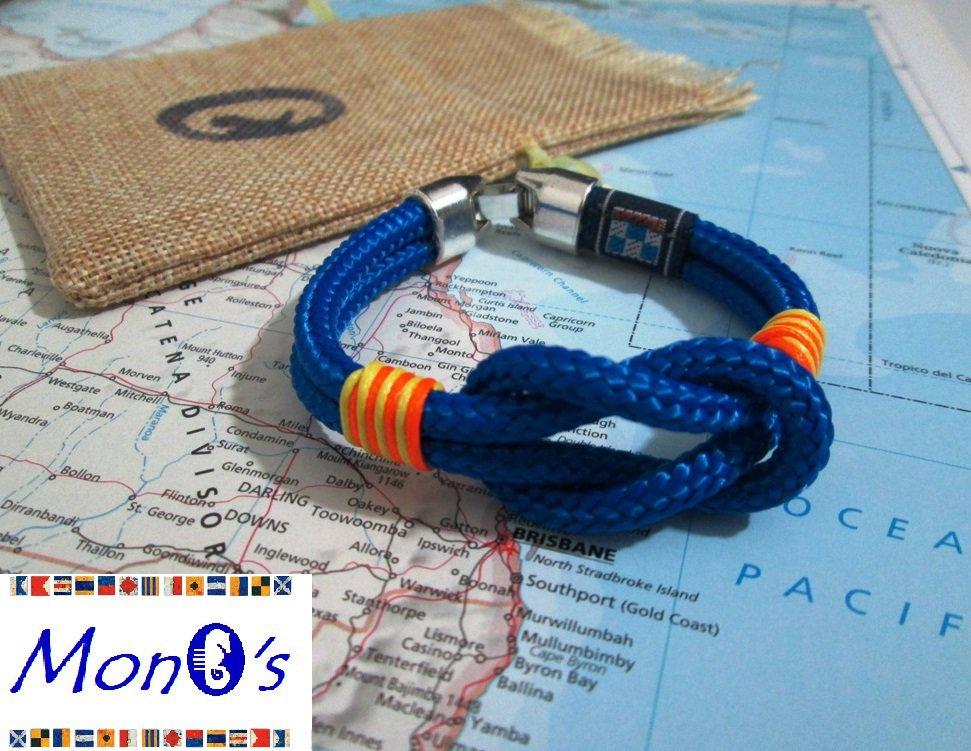 Bracciale uomo navy corda - azzurro