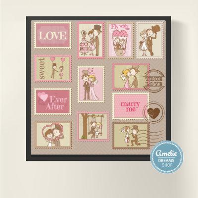 romantica e simpatica illustrazione per san Valentino