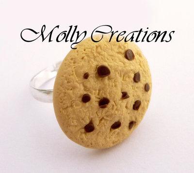 Anello biscotto cookie in Fimo