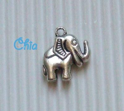 6 charms elefante 20x17mm circa