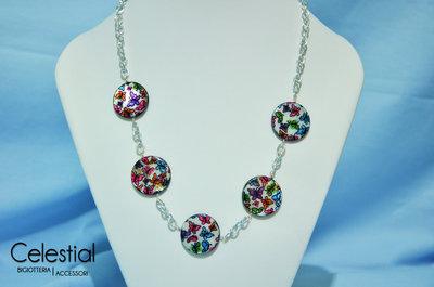 Collana Madreperla - Farfalle colorate